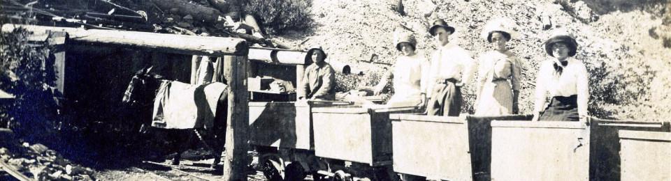Mule train at the Sierra Buttes Mine